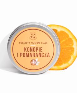 mus do ciała konopie i pomarańcza